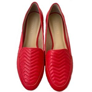 Red loafer flats Talbots